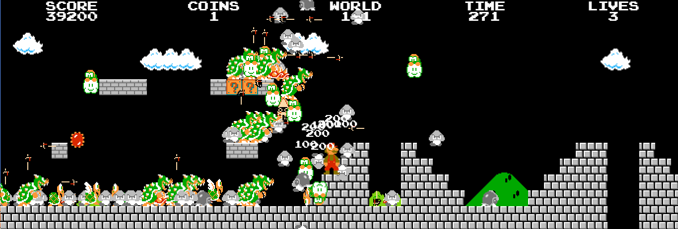 Full Screen Mario Easter Egg Murs 2