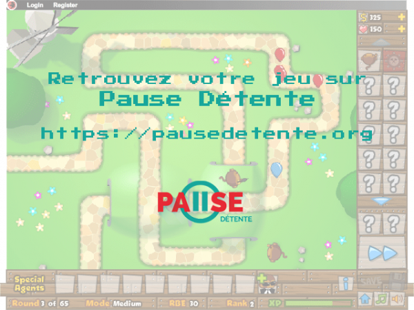 Bloons Tower Defense 5 sur Pause Détente
