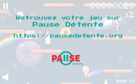 Nyan Cat Lost in Space sur Pause Détente