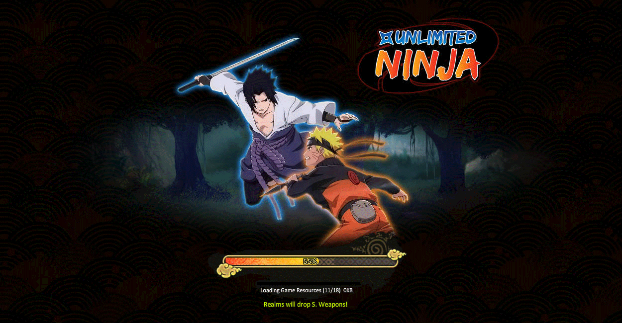 MMOG Ultimate Naruto (Unlimited Ninja/My Ninja) : chargement